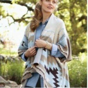 Soft Surroundings Aztec Pattern Cardigan SZ S/M